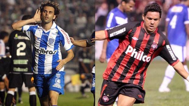 Lincoln e Marcinho, meias de Avaí e Atlético-PR (Foto: Montagem sobre imagens da Agência Estado)