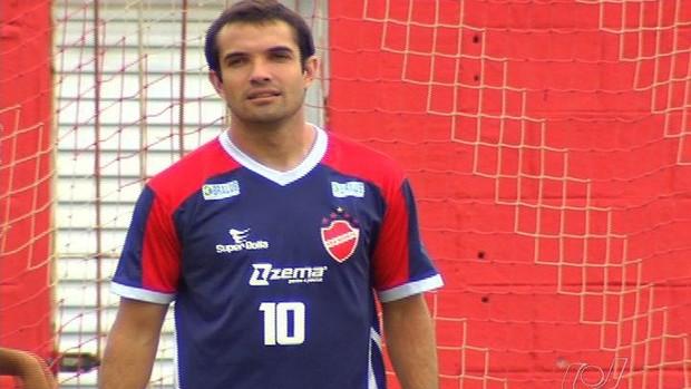 David, meia do Vila Nova (Foto: Reprodução/TV Anhanguera)