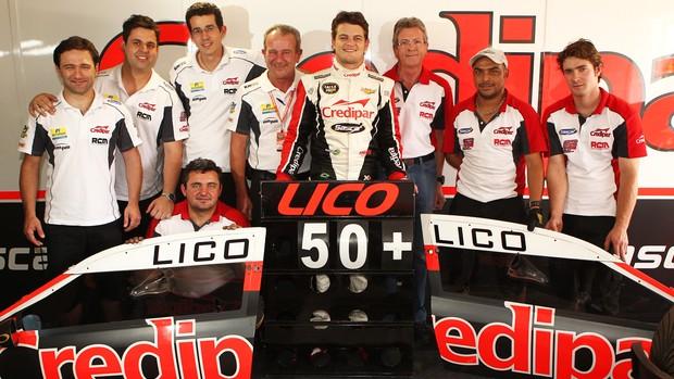 Lico Kaesemodel comemora 50 corridas na Stock Car (Foto: Luca Bassani/ Divulgação)