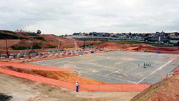 Obras no Itaquerão, estádio do Corinthians (Foto: Marcos Ribolli / Globoesporte.com)