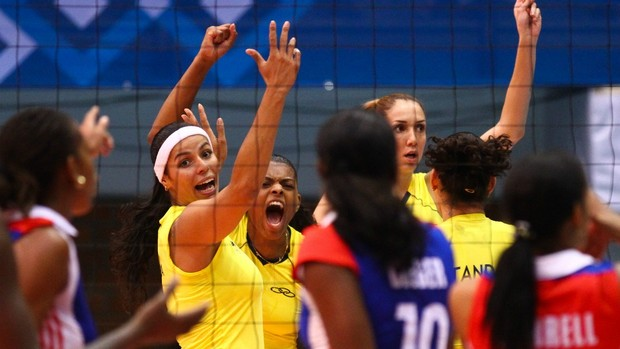 vôlei final feminina do Pan de Guadalajara entre Brasil x Cuba (Foto: Luiz Pires/ Vipcomm)