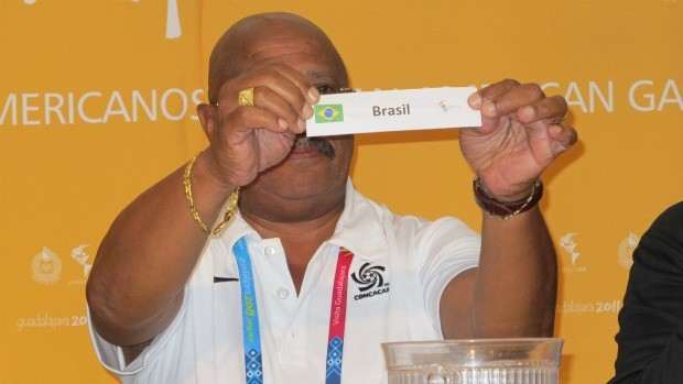 Pan futebol sorteio Brasil x Canadá (Foto: Gustavo Rotstein / GLOBOESPORTE.COM)