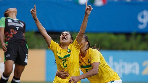 Maurine futebol brasil pan Guadalajara (Foto: Reuters)