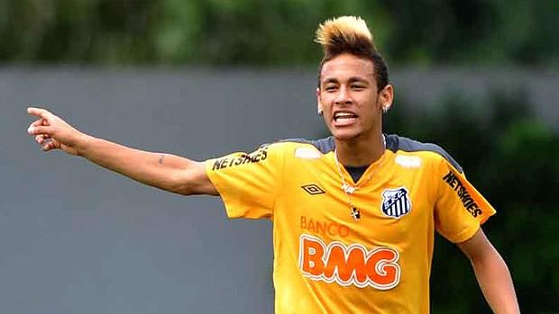 Neymar no treino do Santos (Foto: Ricardo Saibun / Site Oficial do Santos)