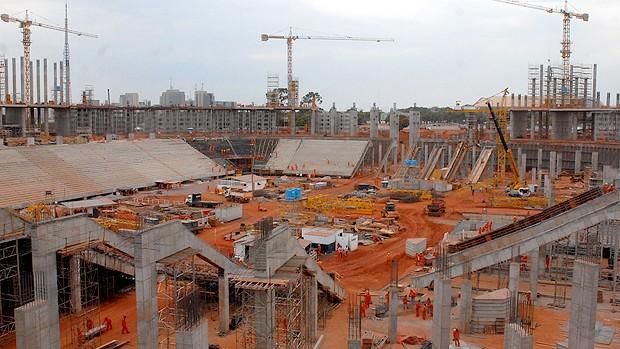 Fotos do Estádio Nacional de Brasília (Foto: Divulgação)
