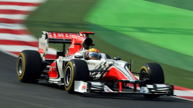Narain Karthikeyan punido GP da Índia Hispania (Foto: Getty Images)