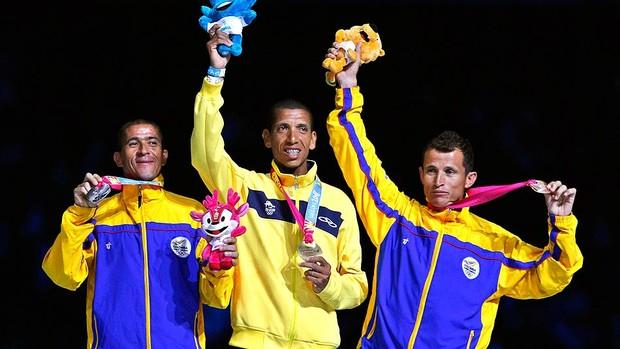 Diego Alberto ganha a medalha de ouro da maratona no encerramento (Foto: Reuters)