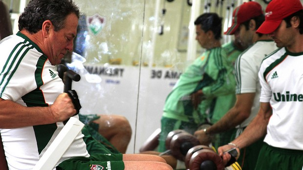 Abel faz musculação nas Laranjeiras (Foto: Nelson Perez/FluminenseF.C.)