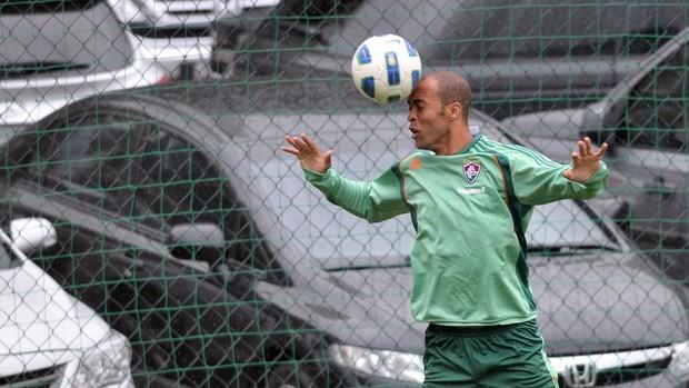 Leandro Euzébio treina nas Laranjeiras (Foto:  Dhavid Normando/Photocamera)