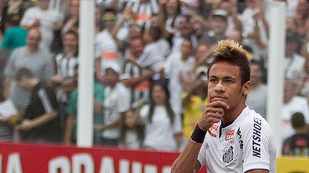 Neymar gol Santos (Foto: Ag. Estado)