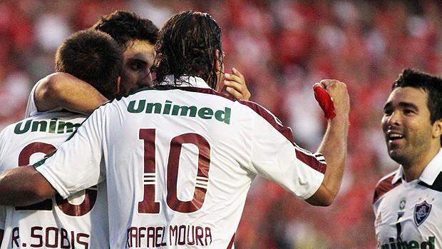 Sobis gol Fluminense (Foto: Alexandro Auler / Photocamera )
