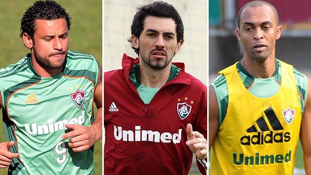 Montagem Fluminense - Fred, Berna e Leandro Euzébio (Foto: Dhavid Normando e Caio Amy / Agência Photocamera)