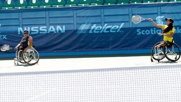 carlos albertojordan  tênis parapan natalia costa (Foto: Luciana Vermell / CPB)