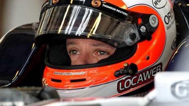 Rubinho chegou a ficar no cockpit da Williams, mas não treinou (Foto: Divulgação)