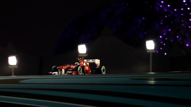 Massa no treino para o Gp de Abu Dhabi (Foto: AFP)