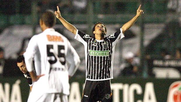 Wellington Nem comemora gol do Figueirense contra o Atlético-MG (Foto: Futura Press)