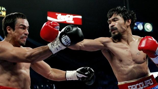 Manny Pacquiao luta contra Juan Manuel Márquez, boxe (Foto: Agência AP)