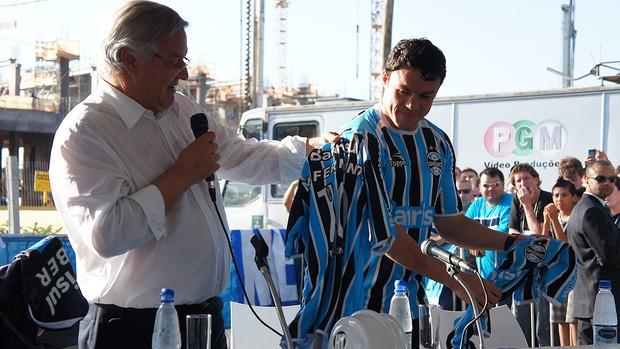 Kleber no Grêmio (Foto: Diego Guichard  / GLOBOESPORTE.COM)