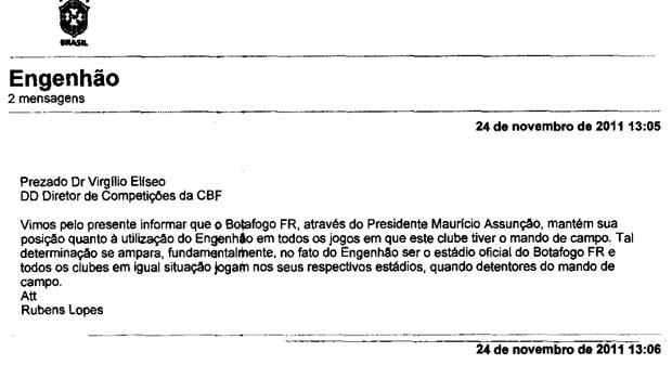 fferj - Botafogo - Engenhão  (Foto: Reprodução)