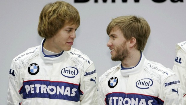 Vettel em 2007, ao lado de Nick Heidfeld. Opinião do Danilão - By globoesporte.globo.com