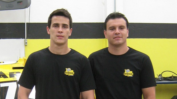 Os pilotos da Stock Car Diego Nunes e Eduardo Leite (Foto: Divulgação)