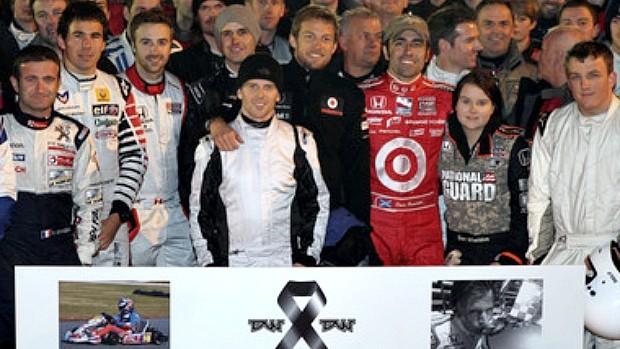 Dan Wheldon corrida kart Inglaterra (Foto: Divulgação)
