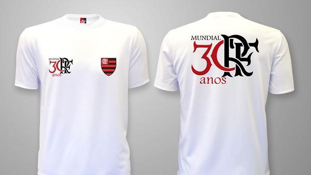 Camisa comemorativa do mundial do Flamengo (Foto: Divulgação / Twitter)