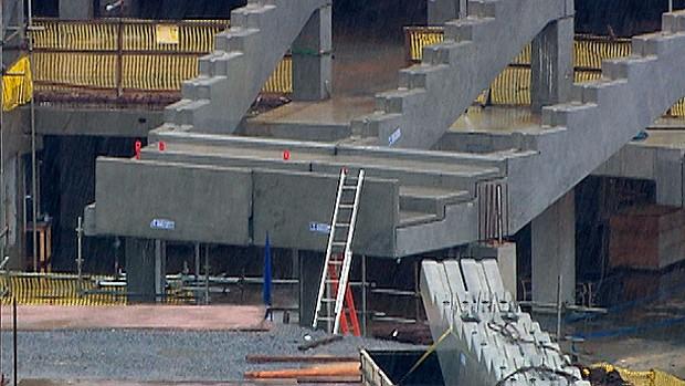 primeiro bloco da arquibancada da arena fonte nova (Foto: Reprodução/TV Bahia)