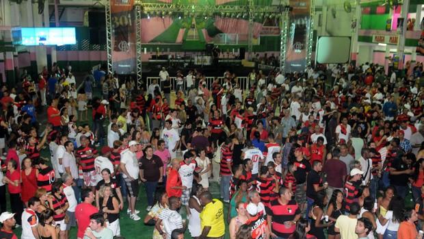 festa flamengo mundial festa (Foto: André Durão/Globoesporte.com)