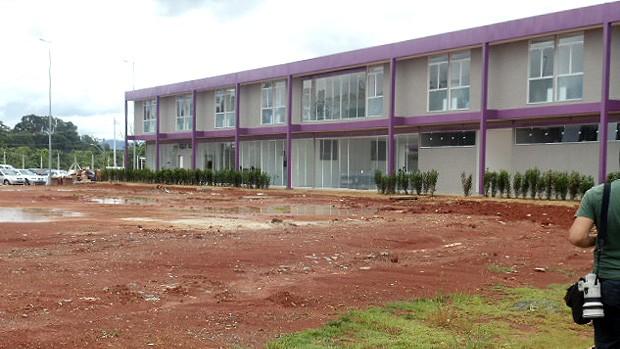 Novas instalações no CT do Corinthians - complexo hoteleiro (Foto: Julyana Travaglia / Globoesporte.com)
