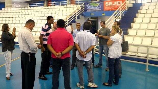Visita do diretor do UFC a Manaus (Foto: Divulgação/Sec)