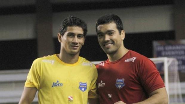 Paulo Henrique Ganso e Lyoto Machida (Foto: Divulgação/ SporTV.com)