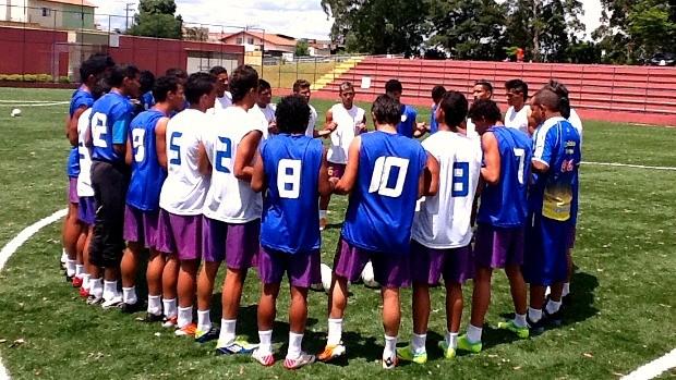 Jogadores do Nacional se preparam para a estreia na Copa São Paulo (Foto: Divulgação / Nacional)