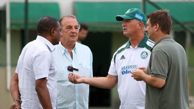 César Sampaio, Roberto Frizzo, Felipão e Galeano palmeiras (Foto: Agência Estado)