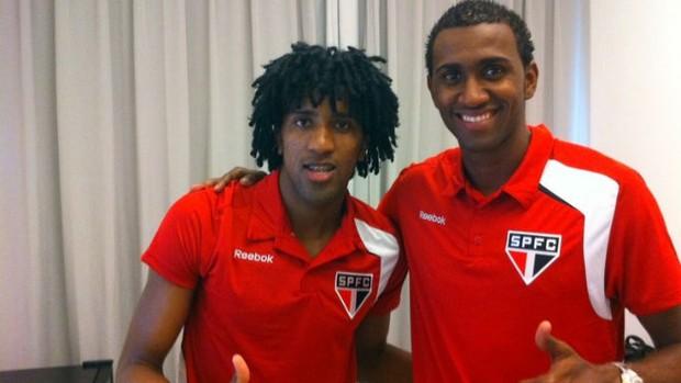 Cortês e João Filipe no CT do São Paulo, em Cotia (Foto: Site oficial do São Paulo FC)