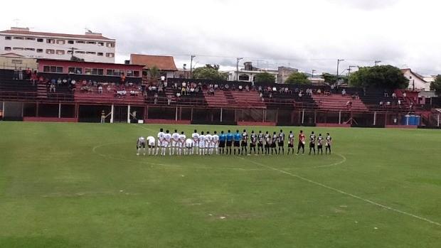 Jogadores perfilados antes do ultimo jogo na Copinha (Foto: Divulgação/Nacional)