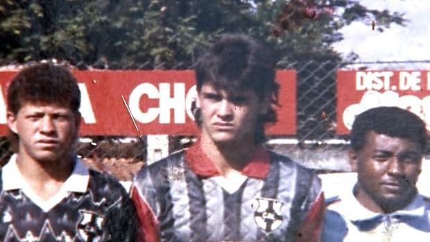 Marcos na equipe da Lençoense no início de sua carreira (Foto: Reprodução SporTV)