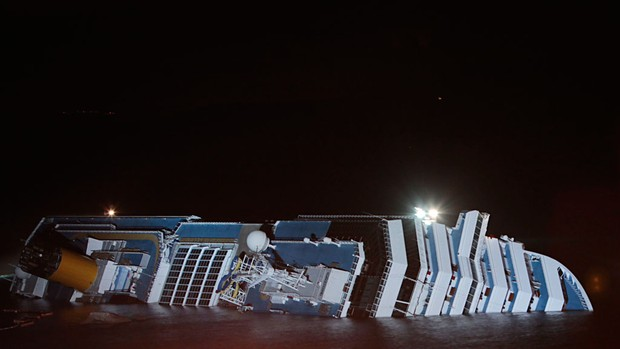 costa concordia navio (Foto: AP)