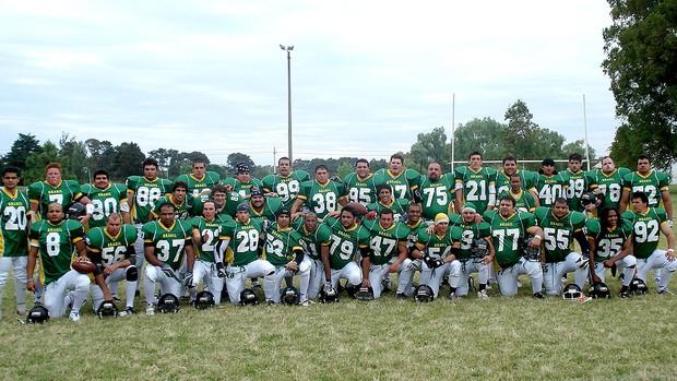 Seleção brasileira de futebol americano em 2007 (Foto: Divulgação / Arquivo Pessoal)