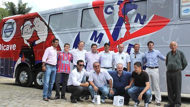 apresentação do novo ônibus do Marinheiro (Foto: Michael Ziliotto / Divulgação)