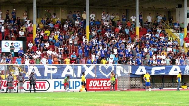 Torcida do Nacional durante a série D do Campeonato Brasileiro de 2011 (Foto: Divulgação/Nacional)