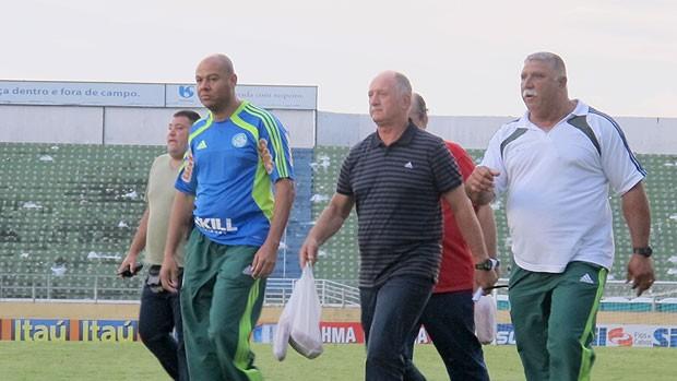 Felipão Scolari Palmeiras linguiça (Foto: Carlos Augusto Ferrari / Globoesporte.com)