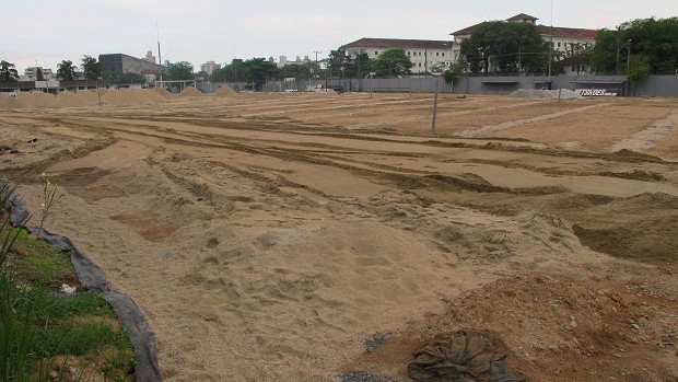 Campo 2 do CT Rei Pelé (Foto: Adilson Barros / Globoesporte.com)