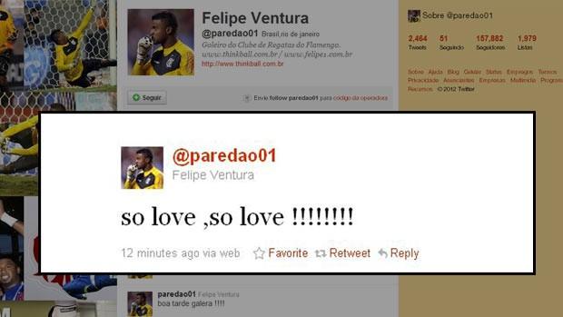 Twitter do Felipe flamengo (Foto: Reprodução)