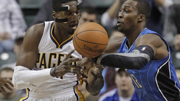 Dwight Howard Roy Hibbert Orlando Magic Indiana Pacers NBA (Foto: AP)