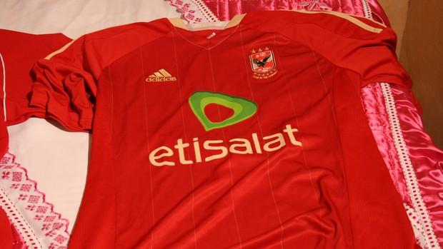 Camisa do Al-Ahli- Fábio Júnior  (Foto: Felipe Martins/GLOBOESPORTE.COM)