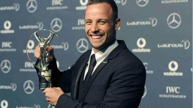 Oscar Pistorius vencedor do Laureus 2012 (Foto: Reuters)