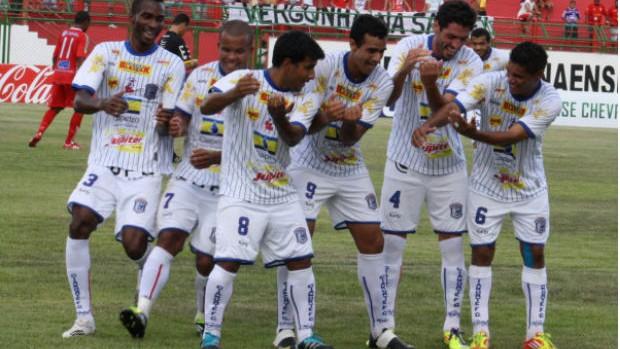 Cianorte comemora gol sobre Paranavaí (Foto: Andye Iore/ Divulgação Cianorte)