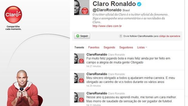 Twitter Ronaldo (Foto: Reprodução / Twitter)