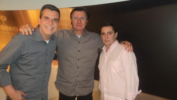 gilmar ferreira, telmo zanini e rogério Corrêa no redação sportv (Foto: Leonardo Filipo/SporTV.com)